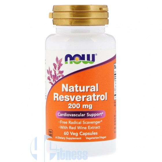 Now Foods Natural Resveratrol 200mg Prodotti Erboristici