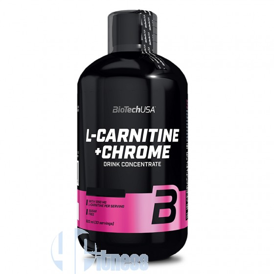 Biotech Usa L-Carnitine+Chrome Liquid Termogenici Senza Caffeina