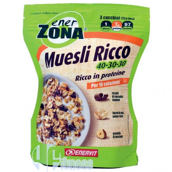 Enerzona Muesli Ricco 40-30-30 Alimentazione a Zona