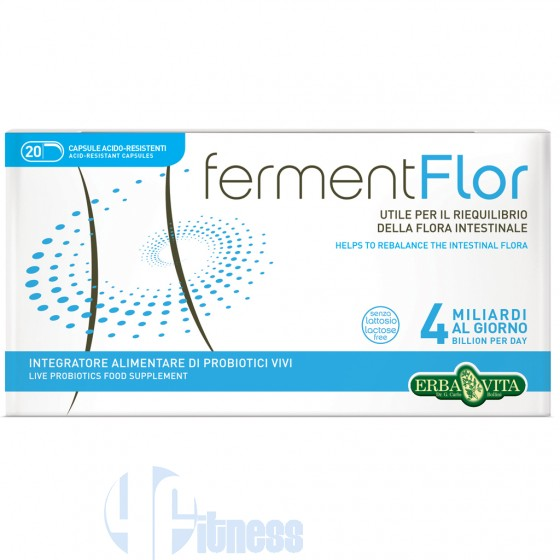 Erba Vita Fermentflor Fibre, Enzimi e Probiotici