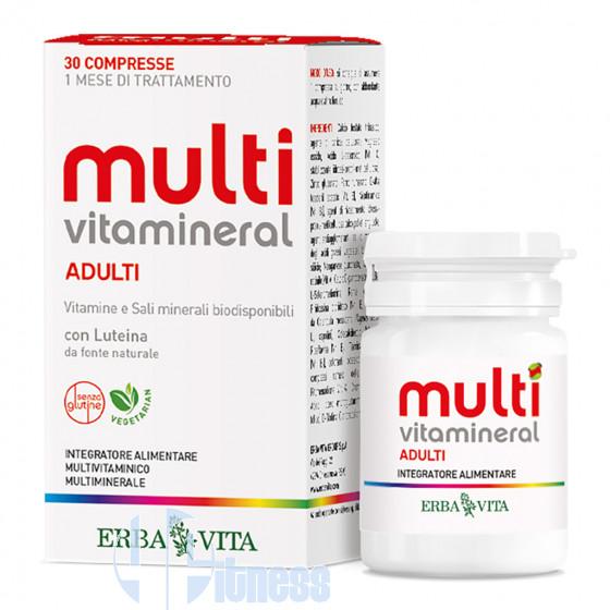 Erba Vita Multivitamineral Adulti Vitamine Minerali Antiossidanti