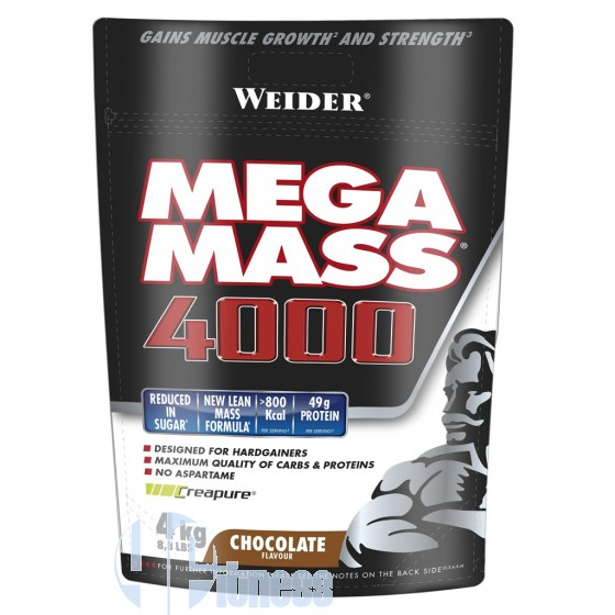 Weider Integratori Mega Mass 4000 Gainer su base glucidica
