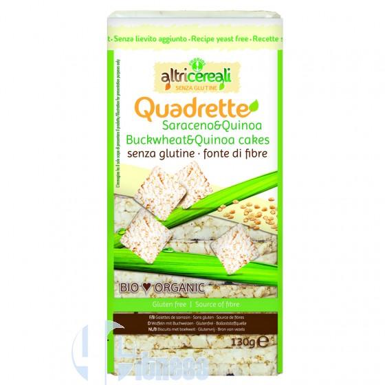 Altri Cereali Quadrette di Grano Saraceno e Quinoa Alimenti Integrali Senza Glutine