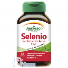 JAMIESON SELENIO CON BETA CAROTENE, C & E 60 CPR