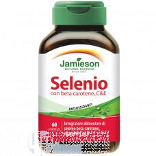 JAMIESON SELENIO CON BETA CAROTENE, C, E 60 CPR