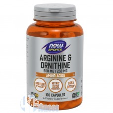 NOW FOODS ARGININE+ORNITHINE 100 CPS