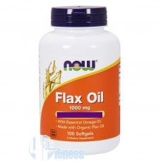NOW FOODS FLAX OIL 100 PERLE