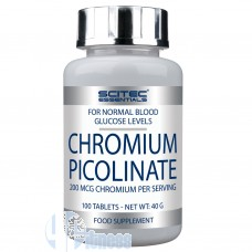 SCITEC CHROMIUM PICOLINATE 100 CPR