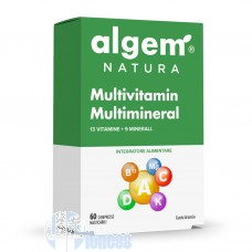 ALGEM NATURA MULTIVITAMIN MULTIMINERAL 60 CPR