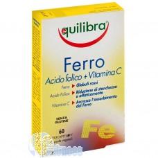 EQUILIBRA FERRO ACIDO FOLICO + VITAMINA C 60 CPS