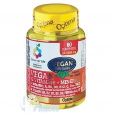 OPTIMA VEGAN 12 VITAMINE + MINERALI 60 CPR