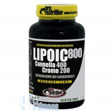 PRO NUTRITION LIPOIC 800 CANELLA CROMO 60 CPR