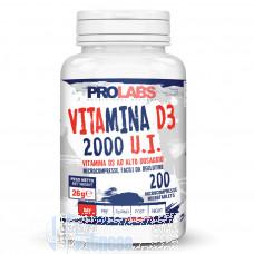 PROLABS VITAMINA D3 2000 U.I. 200 CPR