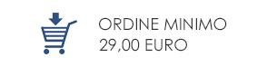 Ordine minimo 29,00 euro
